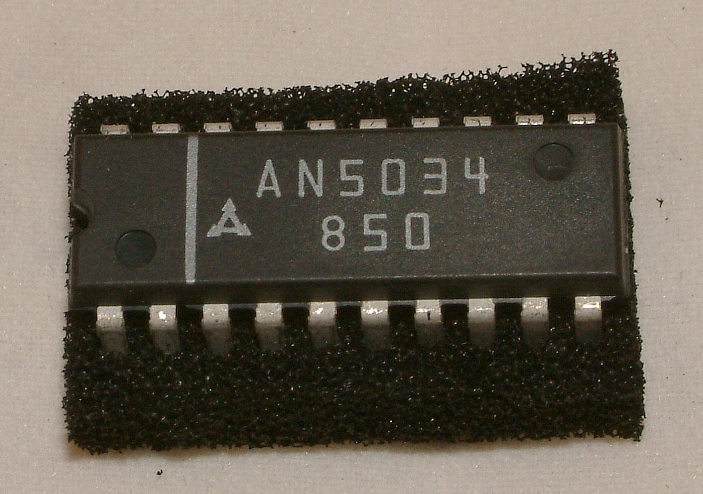 AN5034 TV-Tuning Control  Hersteller: Panasonic  Gehäuse: 20-Pin-DIL Package
