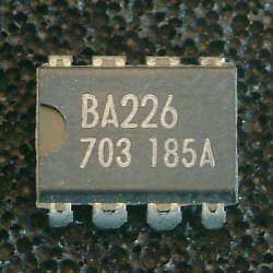 BA226 CR timer  The BA225, BA225F, BA235, BA226, BA226F, and BA236 are monolithic ICs having independent mono and multi circuits which consume very low current (0,75mA typ.). Using external resistors and capacitors, the timing control time can be set within a range from 0.01 ms to 100ms. As the BA225, BA225F, and BA235 are triggered at the rising edge of the signal, they have no trigger input differentiating circuit and can be used in measuring instruments, control devices, digital data systems and other equipment as sub-compact attachments. The BA226, BA226F, and BA236 are available as falling edge trigger types.  * Applications - Delay timers - Mono / multi timing controllers (ideal for VTR system controllers) - Pulse generators  * Features 1) As these are edge trigger types (BA225/ BA235 : rising edge trigger types,    BA226/BA236 : tailing edge trigger types), there is no need for an input differentiating circuit. 2) The dual type design enables delay timer configuration. 3) Fewer attachments are required. 4) Current consumption is as low as O.75mA for each circuit. 5) Uniformity in the circuit current between high and low output states simplifies the design of the power supply section. 6) Wide operating power supply voltage range of 4.0V to 16V. 7) The BA235 and BA236 pin layouts are symmetrical, allowing reverse insertion. 8) Hysteresis in the input results in a high level of noise withstand resistance.