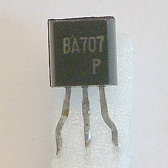 BA707 Low Voltage Regulators  The BA704 and BA707 are threeterminal voltage regulators specifically designed for low supply voltages. The BA704 has a rated output voltage of 2.65V, and the BA707 3.3 V. With special design consideration for input/output and temperature characteristics, the devices have applications in cameras, reference voltage supply for instrumentation equipment, and other low supply voltage circuits operating under harsh environmental conditions.  Features 1. Wide input voltage range. 2. Excellent line regulation. 3. Excellent load regulation. 4. Excellent temperature stability. 5. Requires no external components. 6. In a compact TO-92 package.  Applications Reference voltage supply for cameras, instrumentation equipment, etc.