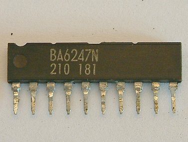 BA6246N / BA6247 / BA6247N / BA6247FP-Y Reversible motor driver  The BA6246N, BA6247, BA6247N and BA6247FP-Y are monolithic ICs incorporating two reversible-motor drivers. The ICs differ in the control logic and output mode.  * Features 1) Two reversible-motor drivers in each unit. 2) Built-in thermal shutdown circuit. 3) Output voltage can be set arbitrarily. 4) Available in a compact SIP10pin package (BA6246N, BA6247N) or a HSIP10pin package with radiation fins (BA6247). 5) Available in a HSOP25pin surface-mount package (BA6247FP-Y).