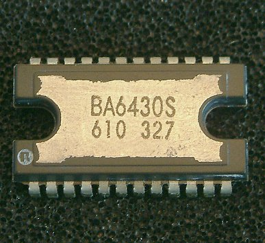 BA6430S  3-Phase-DD-Motor-Driver, Capstan  24-Lead Shrink DIL Package with Cooling Plate